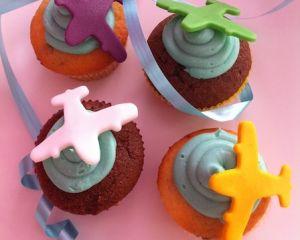 Cupcakes letadla