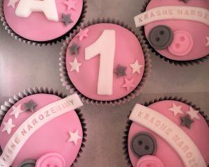 Cupcakes růžové pro holčičku