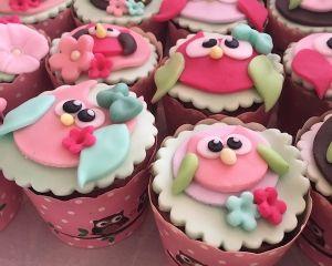 Cupcakes sovy -  sovičky