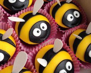 Cupcakes včeličky