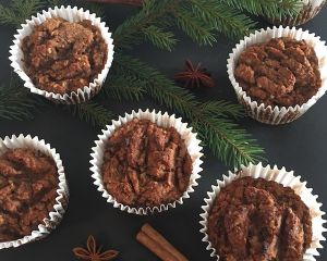 Cupcakes vánoční skořicové mrkvové