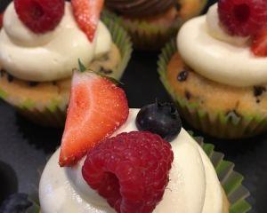 Cupcakes vanilkové s ovocem