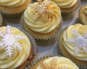 Cupcakes  vanilkové vločky