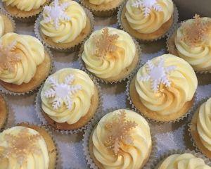 Cupcakes vánoční - vanilkové