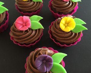 Cupcakes velikonoční kytičky