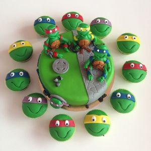 Želvy Ninja a cupcakes