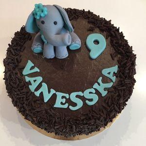Dort čokoládový se slonem