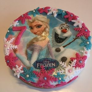 Dort Ledové království - jedlý papír Elsa a Olaf