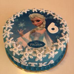 Dort modrý - Elsa - jedlý papír a bílé vločky