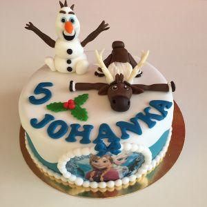 Dort Ledové království - jedlý papír Elsa a Anna, figurky Olaf a sob Sven