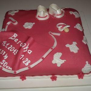 Dort k narození miminka - růžový