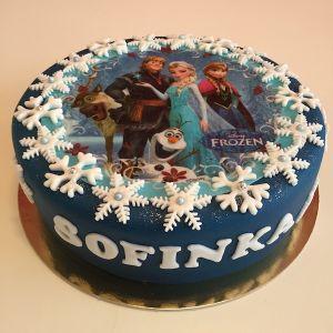 Dort tmavě modrý Ledové království - jedlý papár