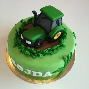 Dort - zelený traktor