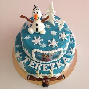 Ledové království Frozen - dort