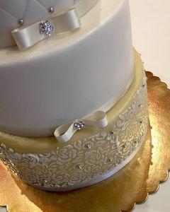 Svatební 3.p. krémová krajka