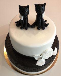 Svatební dort - dvě kočky