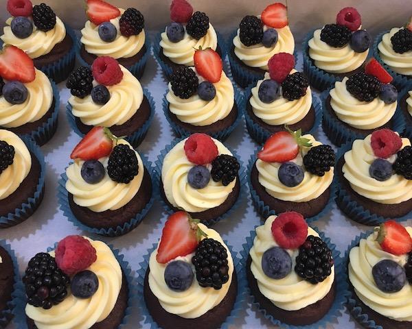 Cupcakes s ovocem